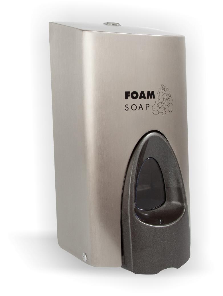 Metal Dispenser Soap Dish Toothbrush Holder Bathroom: Stainless Steel Foam Soap Satchet Dispenser 800ml